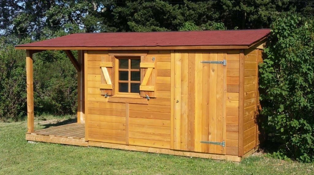 Modèle LA ROCHELLE, abri de jardin une pente - Red Cedar ...