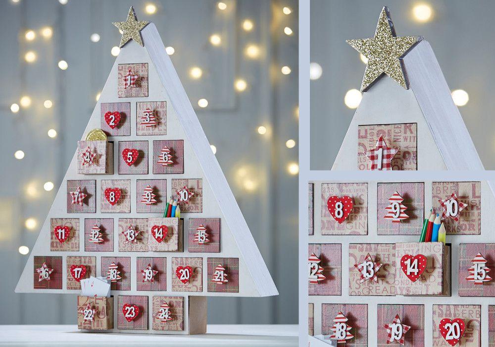 Ideas Hobbycraft Blog Christmas Tree Advent Calendar Wooden Advent Calendar Christmas Advent Calendar