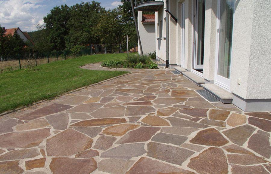 Sandstein Bodenplatten Natursteinplatten Polygonalplatten Steinplatten