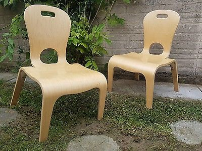 2 stunning bent ply teacher low chairs by community playthings great