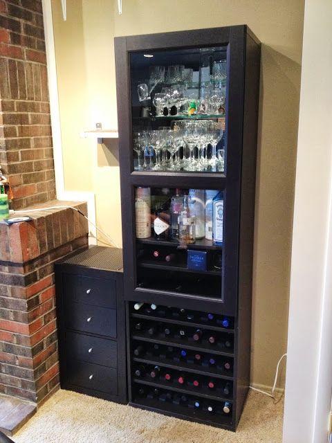 Besta Wine Rack And Liquor Cabinet Ikea Hackers Liquor