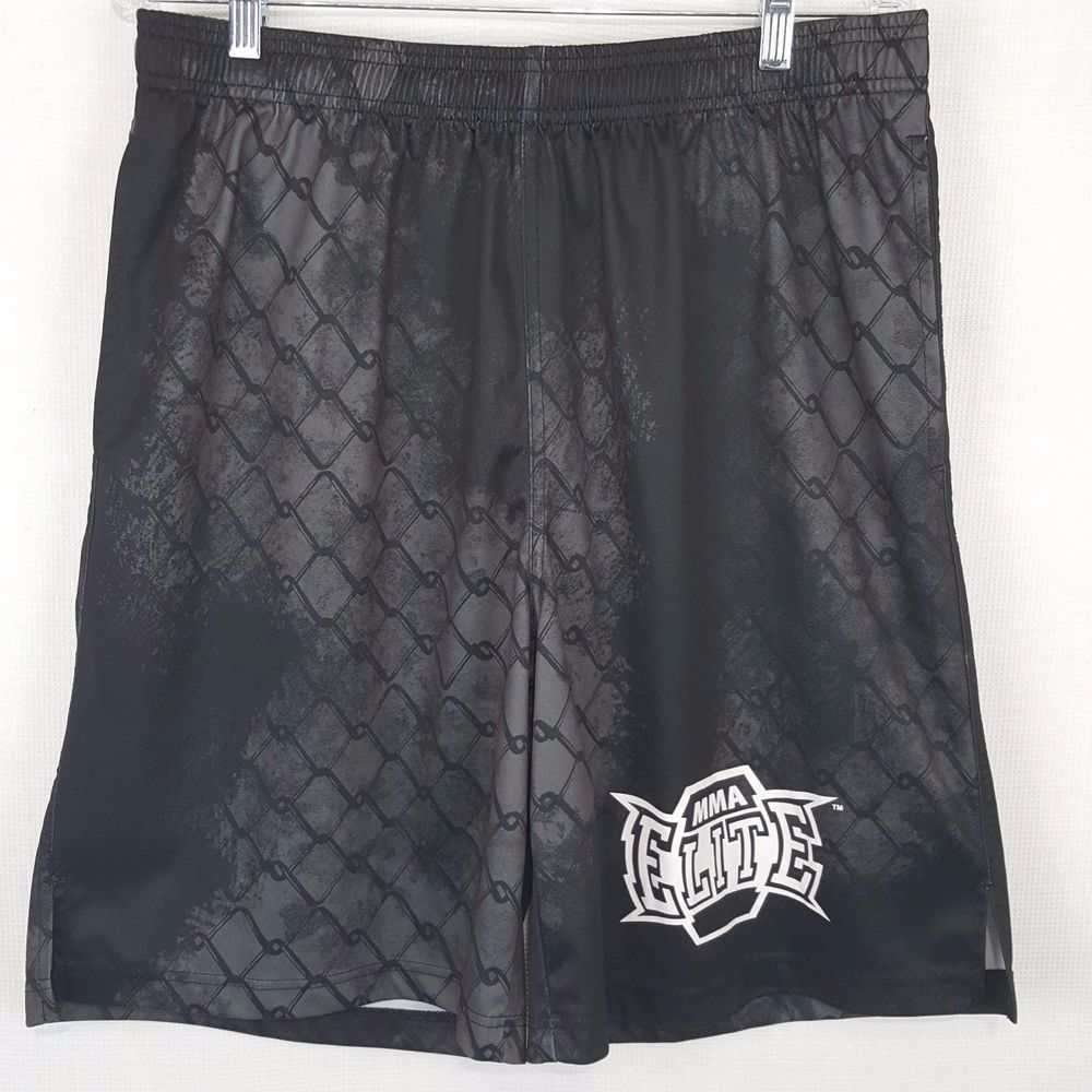 Mma Elite Workout Gym Shorts Men S Size Large Mixed Martial Arts Drawstring Bd Mma With Images Mens Workout Shorts Mens Gym Shorts Gym Shorts