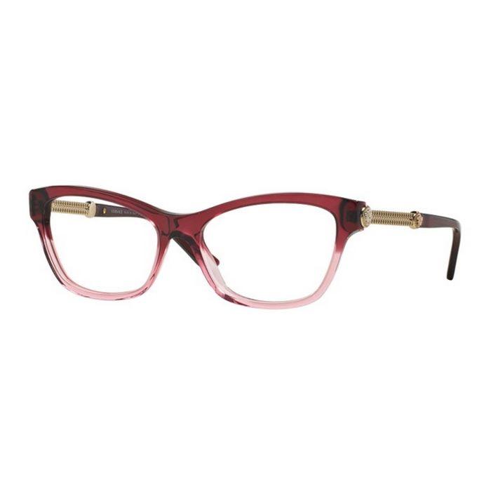 7a75bd25b9 Versace VE3214-5151 Cat Eye Women s Red Frame Clear Lens 54mm Eyeglasses NIB