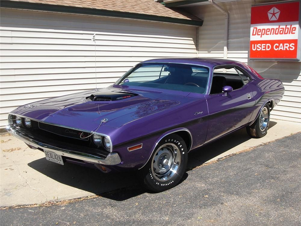 A real 426 HEMI Challenger and original Plum Crazy purple car, only ...