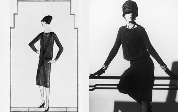 1926 erschien in der vogue erstmals das gezeichnete bild eines schwarzen chanel kleides das von. Black Bedroom Furniture Sets. Home Design Ideas