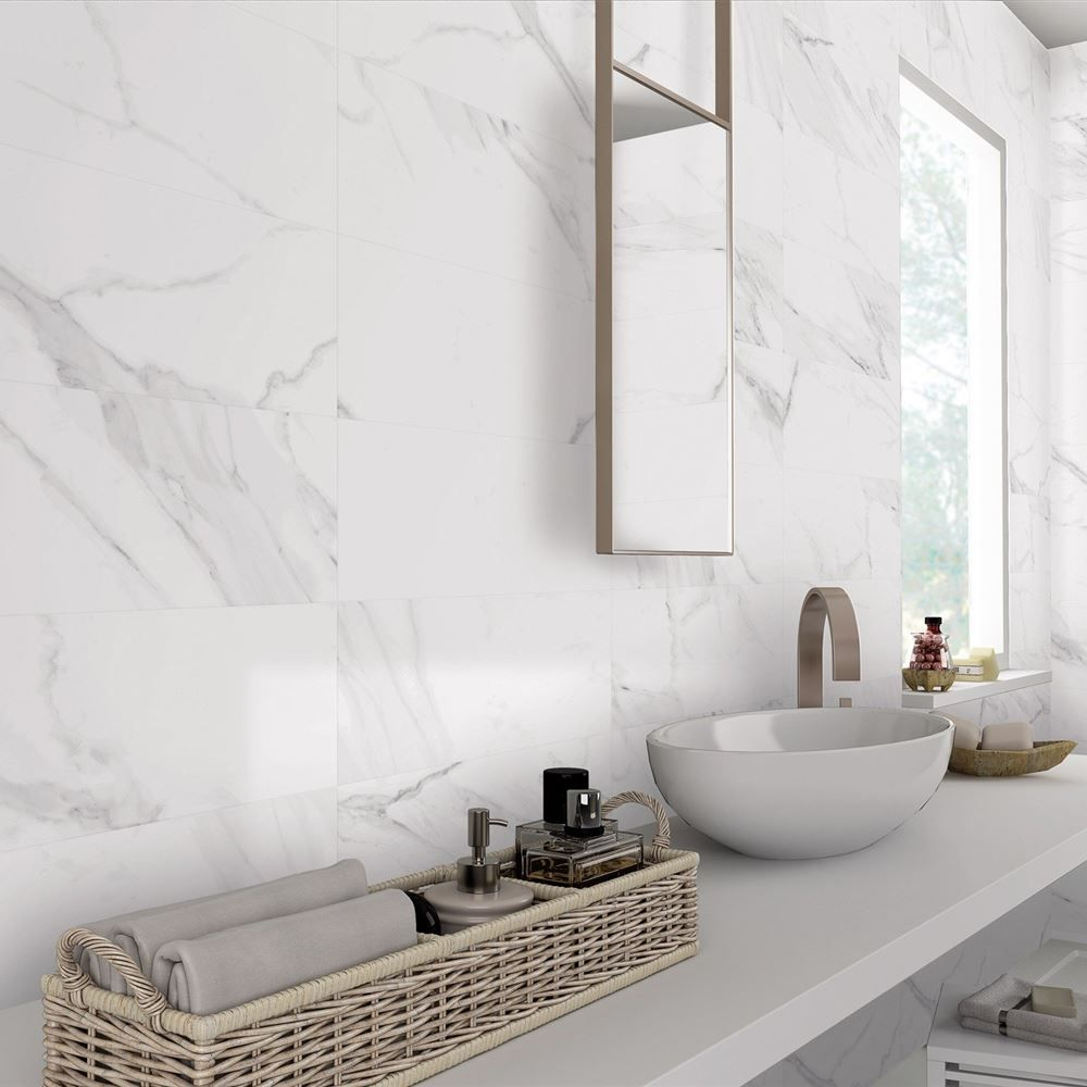 White Marble Represents Purity And Peace Many Architects Use White Marble Either For Cladding Or F Marble Tile Bathroom Porcelain Wall Tile Marble Wall Tiles
