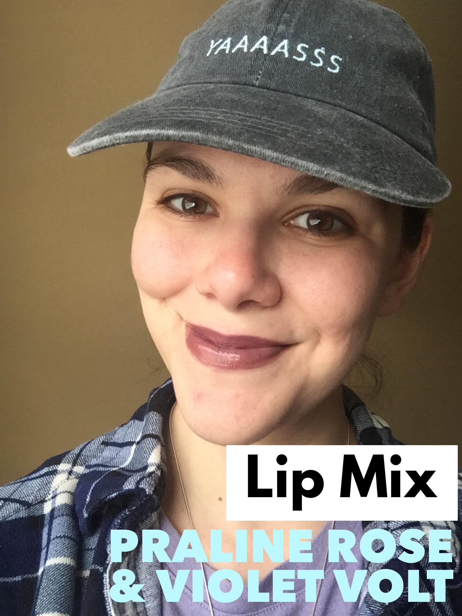 Lip Mix 1x Violet Volt 2x Praline Rose! Find me on FB: THE SUNSHINE BEAUTY BAR Distributor ID# 415981 #mauvelipstick