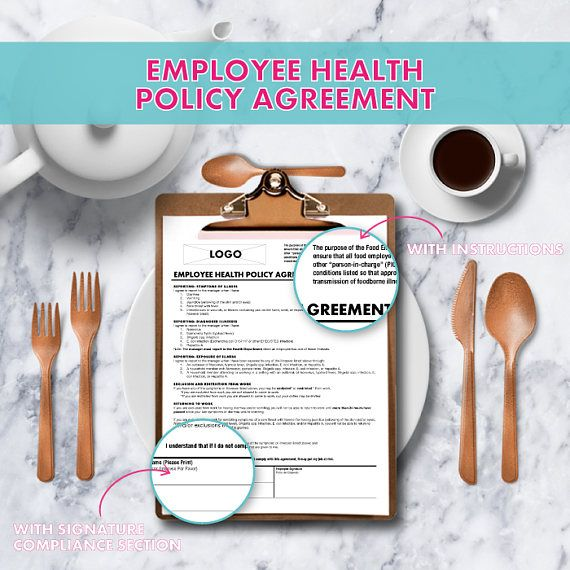 Use This Employee Health Policy Agreement Form As To Follow The