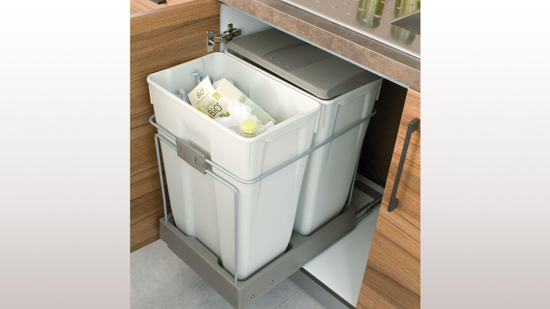 accessoires de rangement tri s lectif poubelle 2 bacs 35l organisation pinterest tri. Black Bedroom Furniture Sets. Home Design Ideas