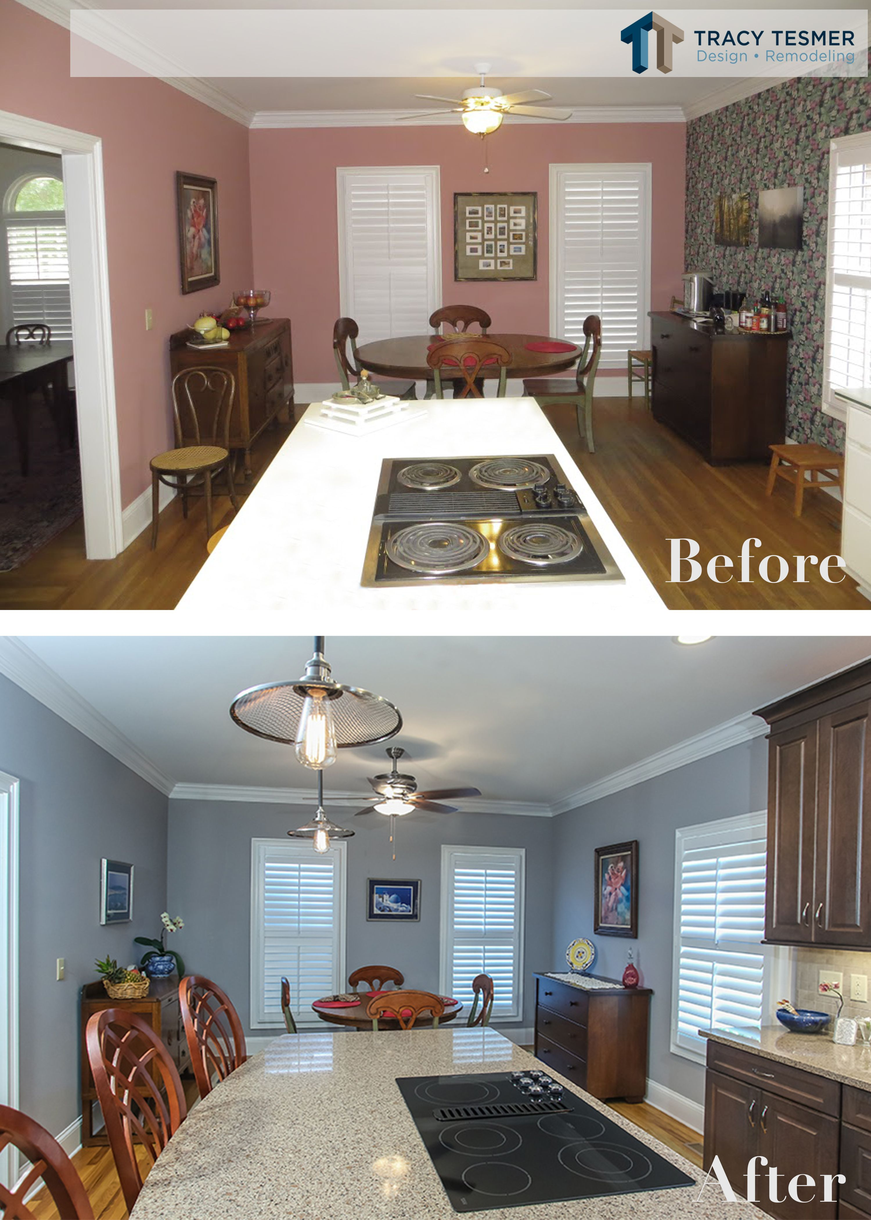 Fresh coat of paint,some new cabinets and finishes, and this kitchen looks as good as new ...
