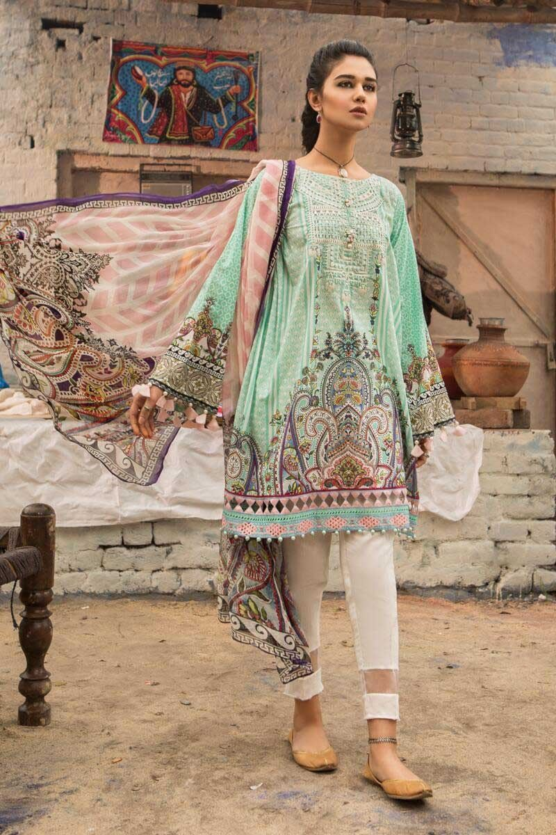 12f2a9851c M Prints Maria B Printed Embroidered Lawn Collection 2019 | Creative ...