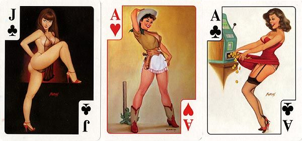 playing cards naked girls collectible