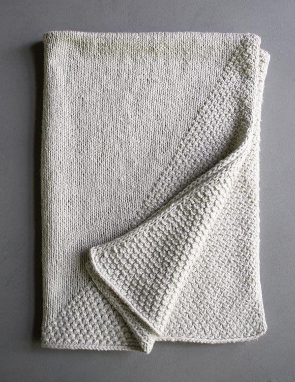 Cozy Corners Crib Blanket (The Purl Bee) | Knit baby ...