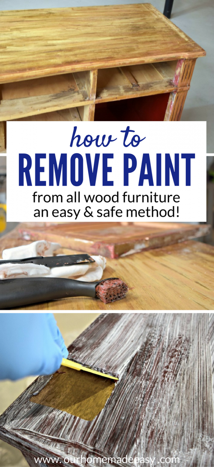 How To Easily Remove Paint Varnish From Old Furniture Paint Remover Woodworking Projects Diy Diy Woodworking