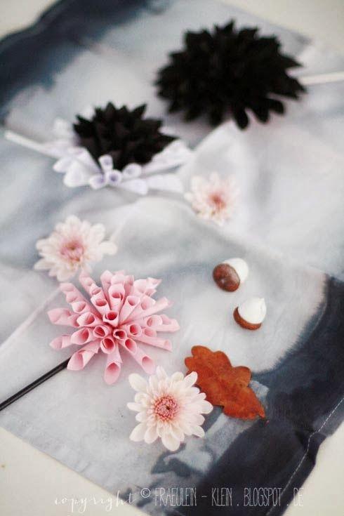 auch hübsch: Dalien | \'30\' | Pinterest | DIY Papier, Dahlie und Fräulein