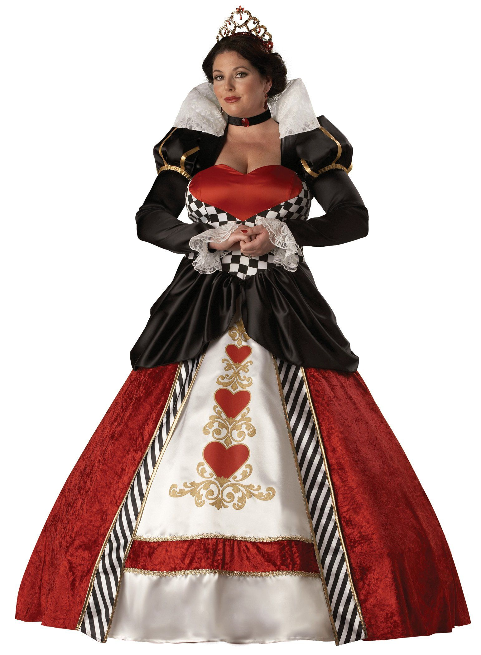 queen of hearts elite collection adult plus costume | costumes