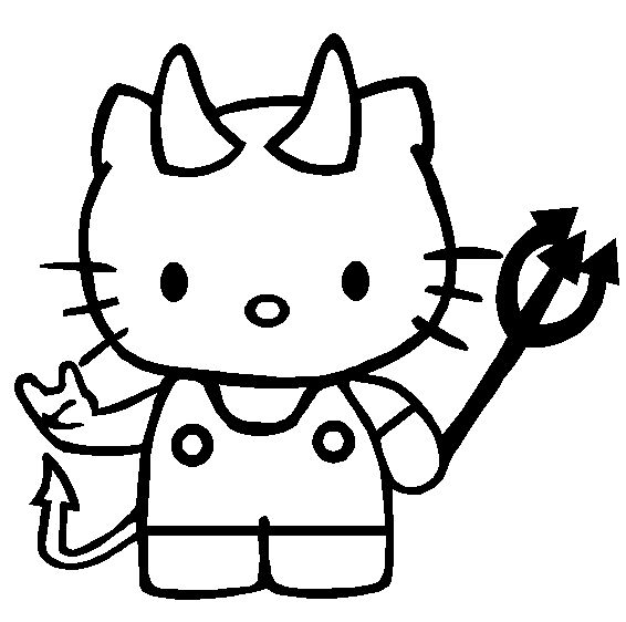 Hello kitty coloring page | Halloween/St Patrick\'s Printable\'s For ...
