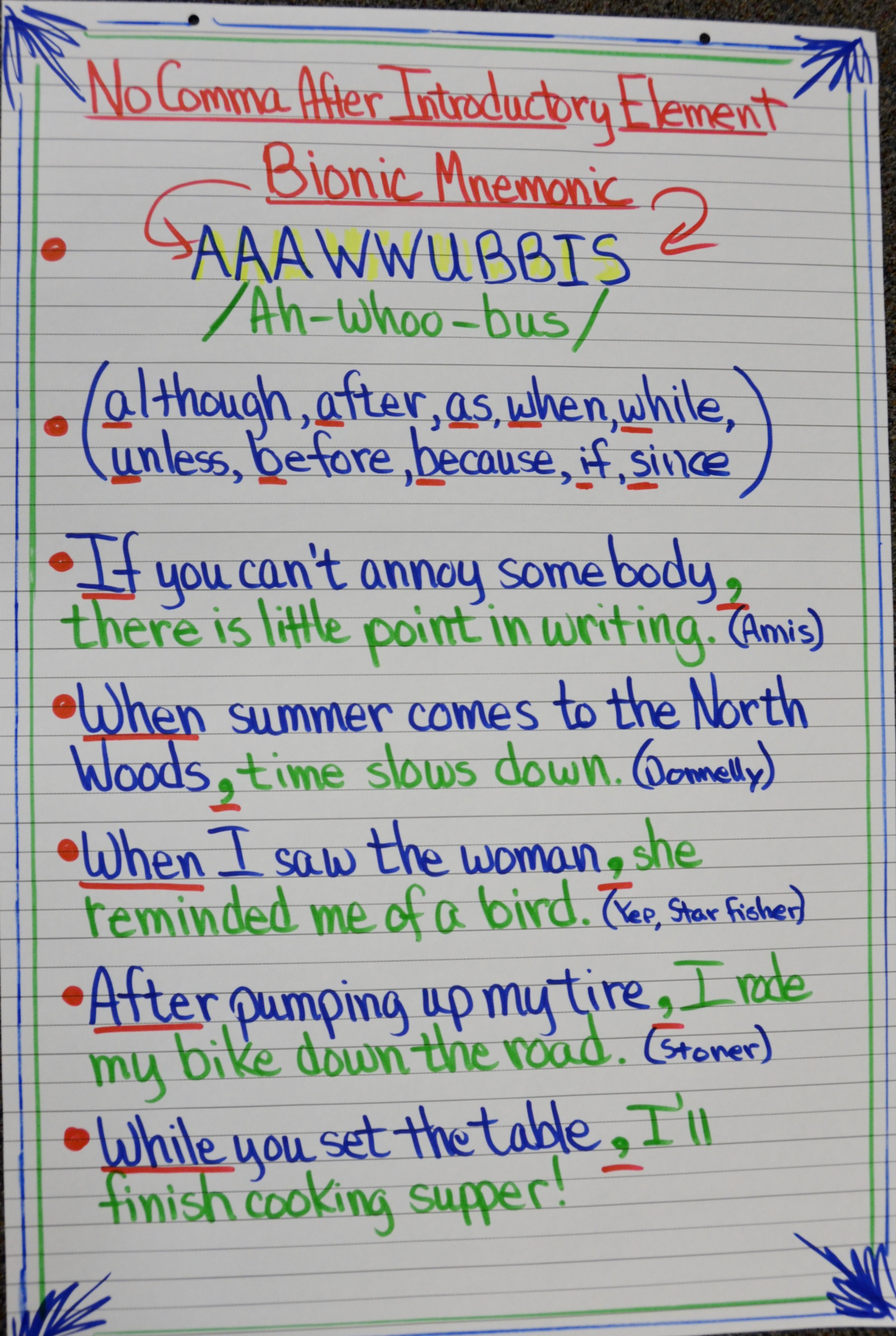 Aaawwubbis Great For Prepositional Phrases And Varied Sentences