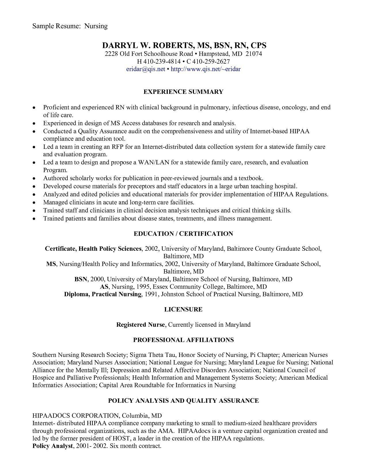 32 Elegant New Graduate Nurse Resume in 2020 Nursing