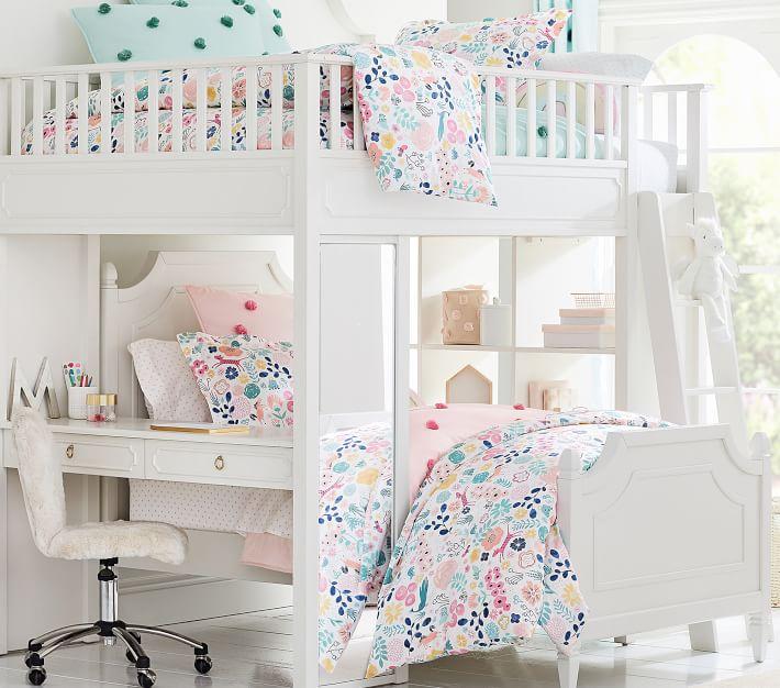 Organic Sasha S Garden Duvet Cover Kids Loft Beds Bedroom Decor Bedroom Design