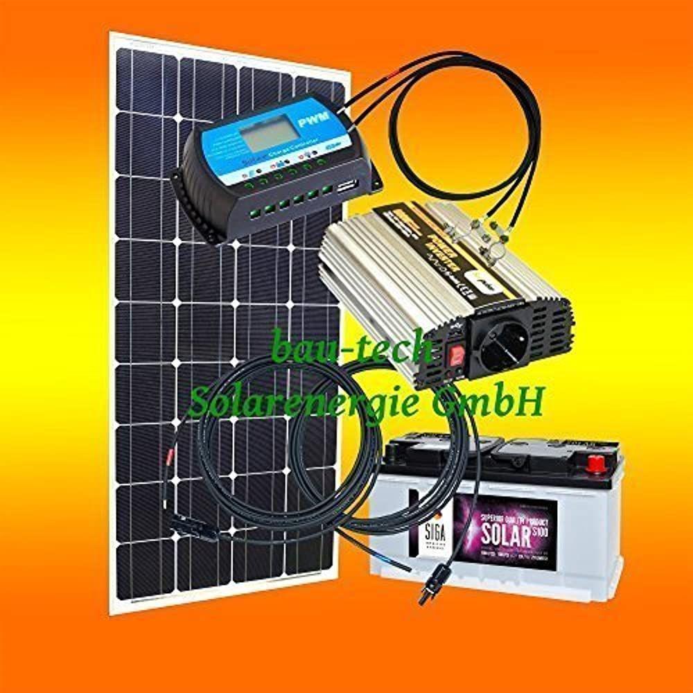 130 Watt Inselanlage 12 Volt Set Mit Spannungswandler Mit Batterie Von Bau Tech Solarenergie Gmbh Camping Zubehor Zelt Sonnensystem Basteln Laderegler Sol 2020