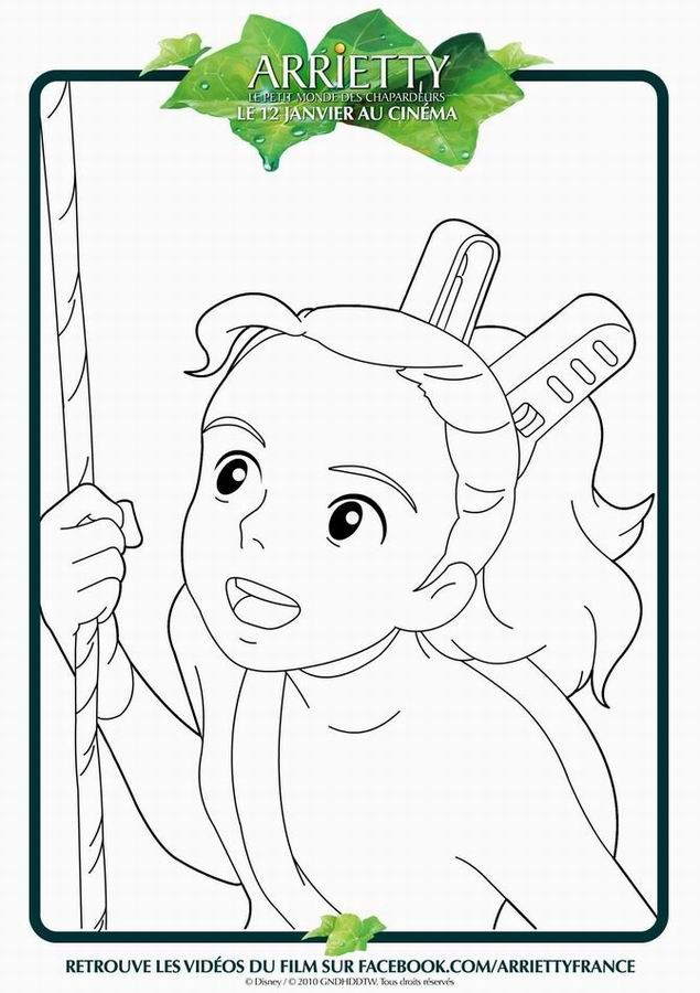 Arrietty | Crafty Coloring | Pinterest