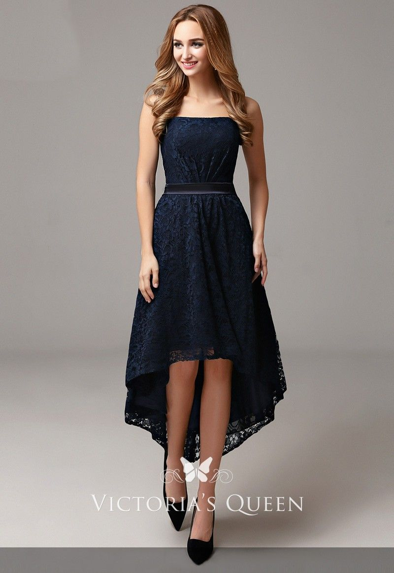 20085c6e19c ... elegant dark navy lace bridesmaid dress is characterized by its  figure-flattering silhouette of A-line
