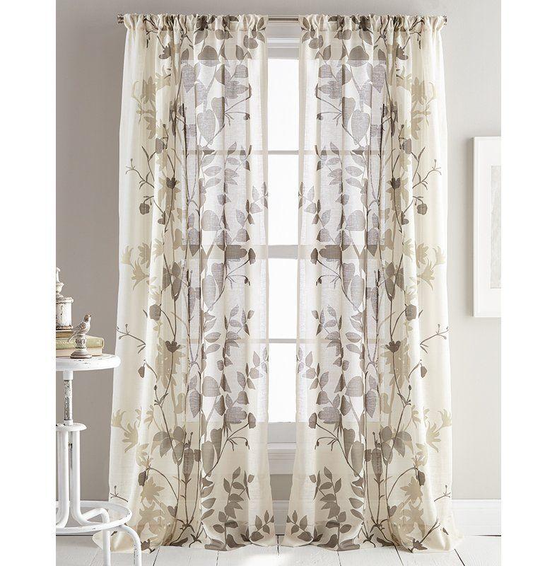 Dkny Landscape Ii Floral Flower Sheer Curtain Panels Reviews
