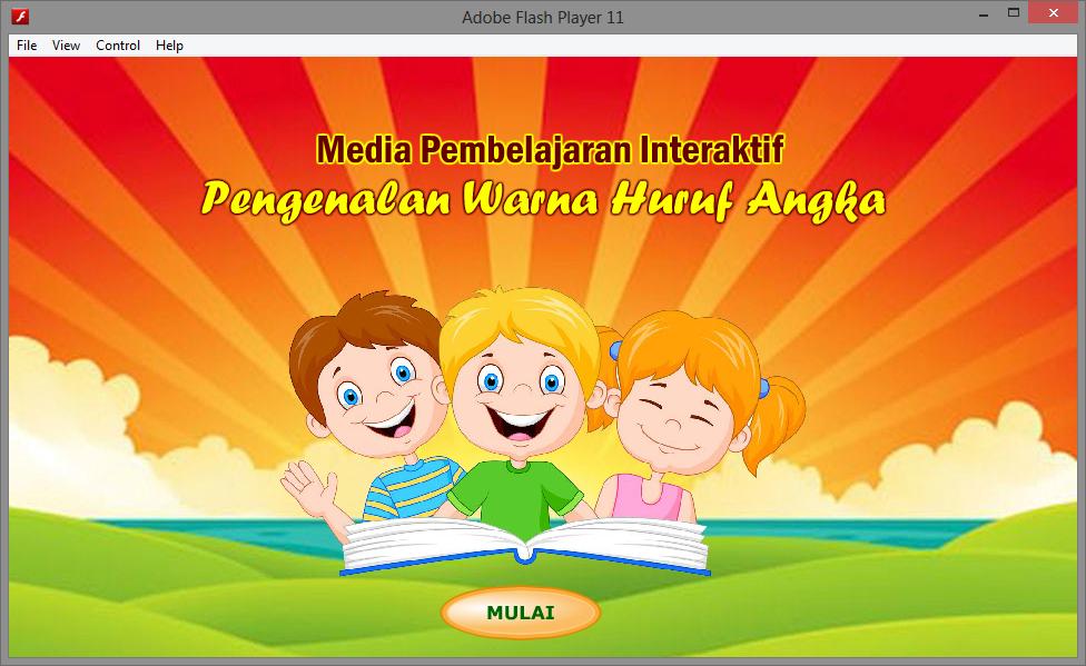 Aplikasi Multimedia Belajar Huruf Angka Warna Untuk Anak Multimedia Game Edukasi Belajar