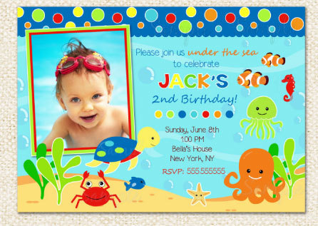 Under The Sea Birthday Invitations By LollipopPrints On Etsy 1000