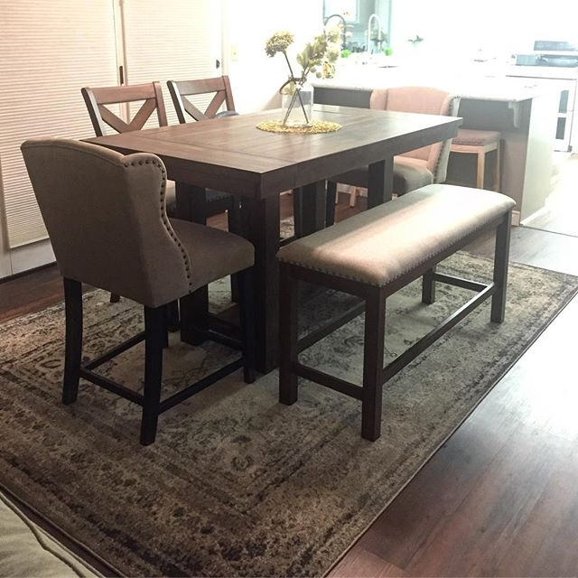 Awe Inspiring Moriville Counter Height Dining Room Table By Ashley Gmtry Best Dining Table And Chair Ideas Images Gmtryco