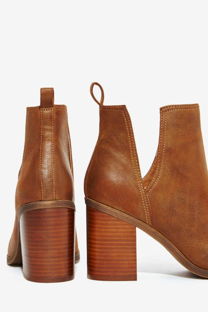 Lipstik Shoes Nerro Cutout Boot - Brown - Boots + Booties