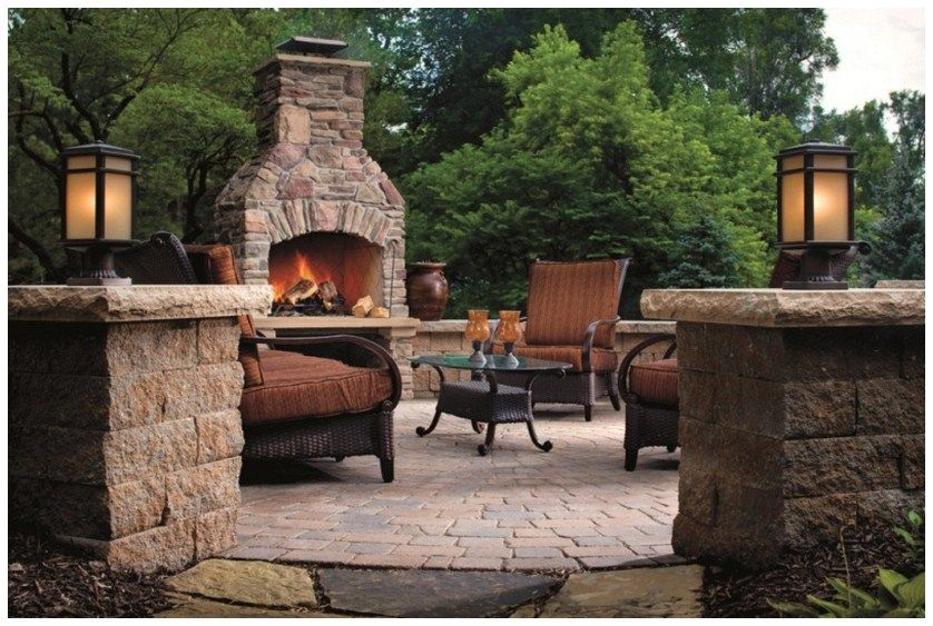 Fire pit backyard designs landscaping ideas pinterest for Fire pit ideas outdoor living