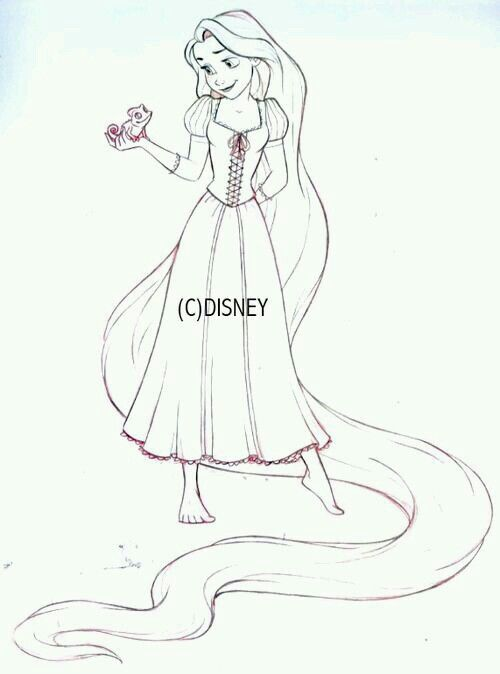 Pin By B On Drawing Rapunzel Drawing Disney Sketches Disney Princess Drawings
