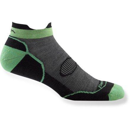 Darn Tough Run//Bike Light Cushion Quarter Sock Mens