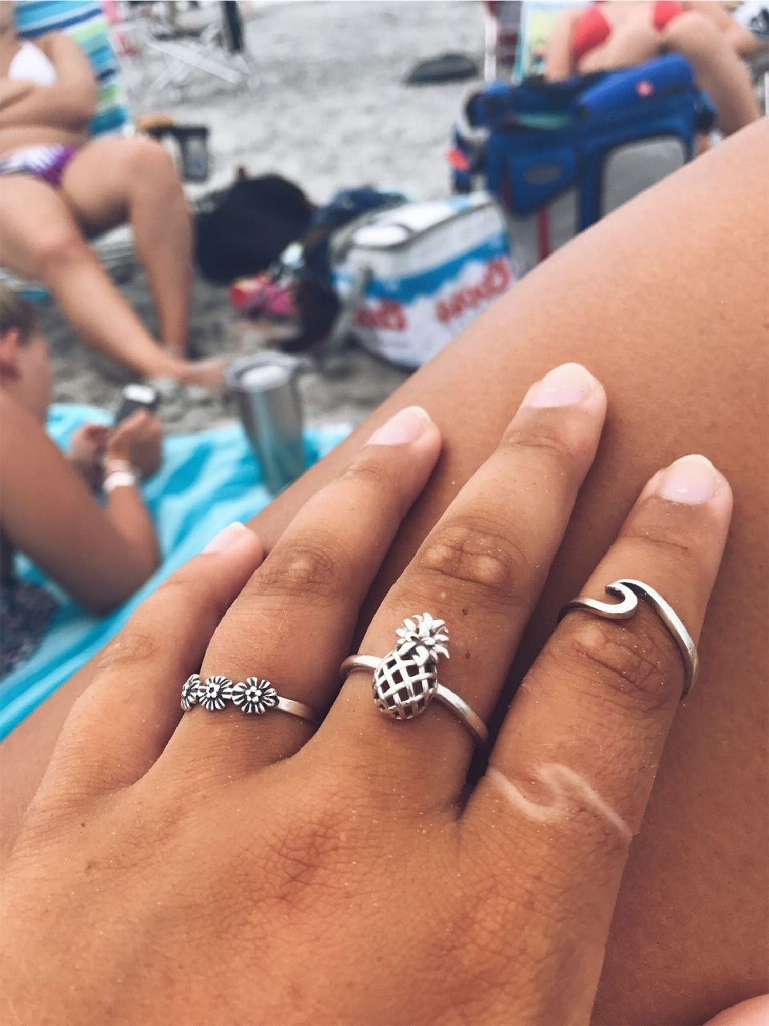 5f8f26fa2 Cute Simple Surf Wave Dainty Ring Fashion Jewelry for Teens Boho Women's  Stackable Silver Rose Gold Ring (www.Jewolite.com) #rings