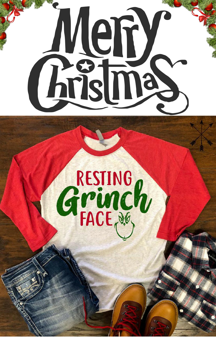 Ha Ha! Yes! Resting Grinch face tee. Love it!