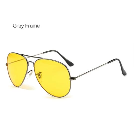 HD Night Vision Yellow Driving Sunglasses Shades Sun Glasses Eyewear Uv400