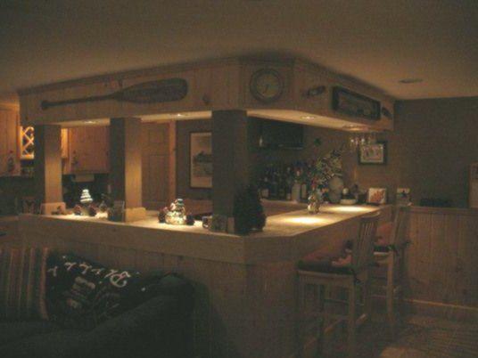 Photo of Lodge decor basement bar #recreationalroom #recreational #room #couch,  #bar