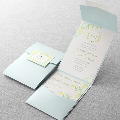 Natural Attraction Wedding Invitations