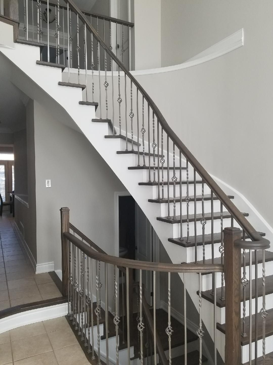 Best Refinished Staircase Www Grandfloors Ca Refinish 640 x 480