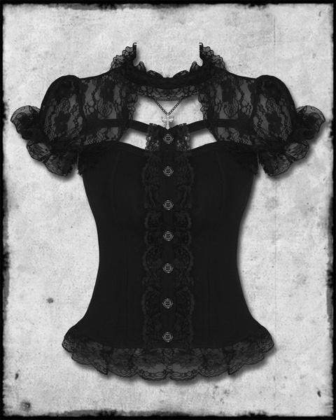Corsetto imbottito con tut/ù KUOSE Burlesque Moulin Rouge