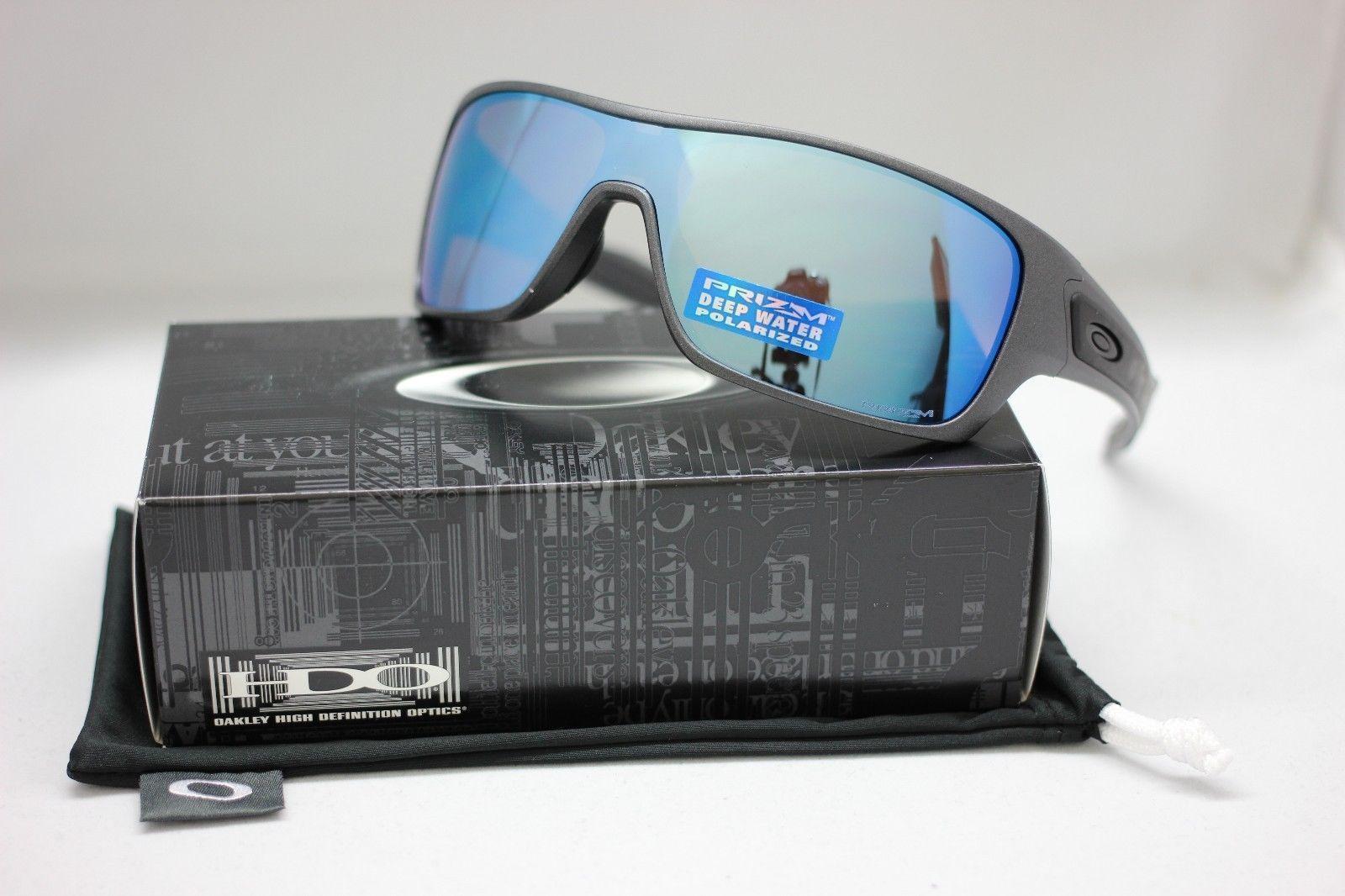 0380218e158 NEW Oakley TURBINE ROTOR Sunglasses Steel Prizm Deep H2O Polarized 9307-09  Wrap oakley deep water turbine