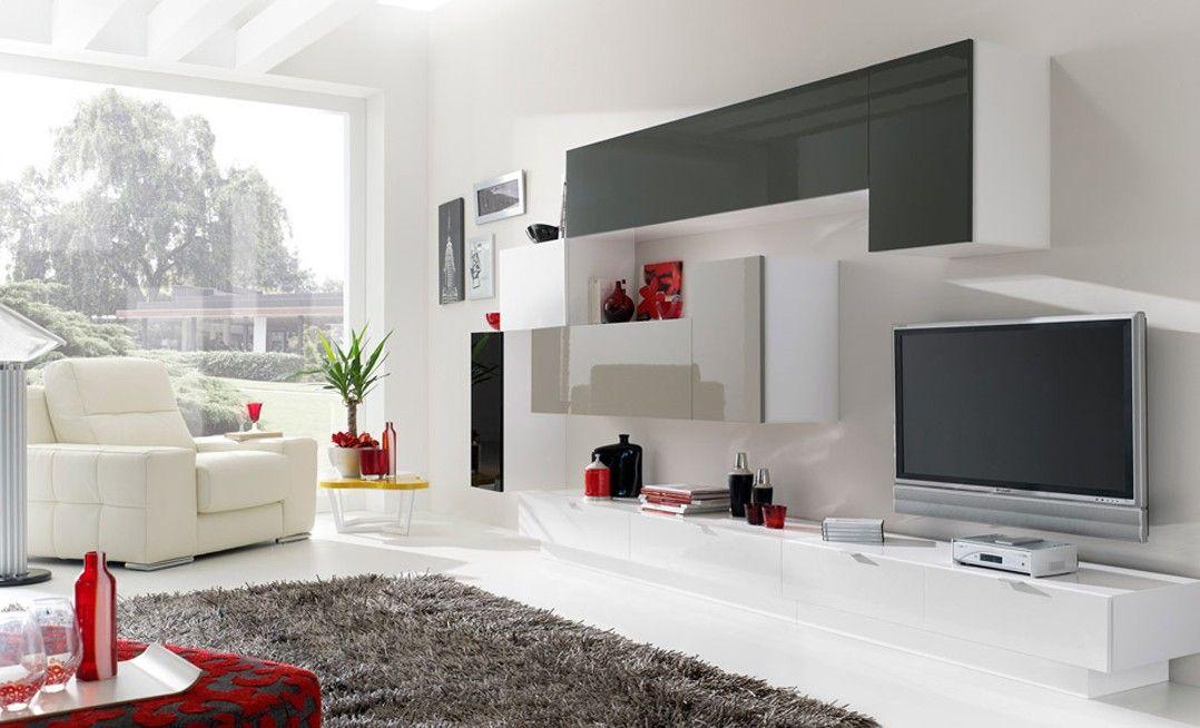 Mueble de salón moderno y sencillo, diferentes combinaciones. Buena ...
