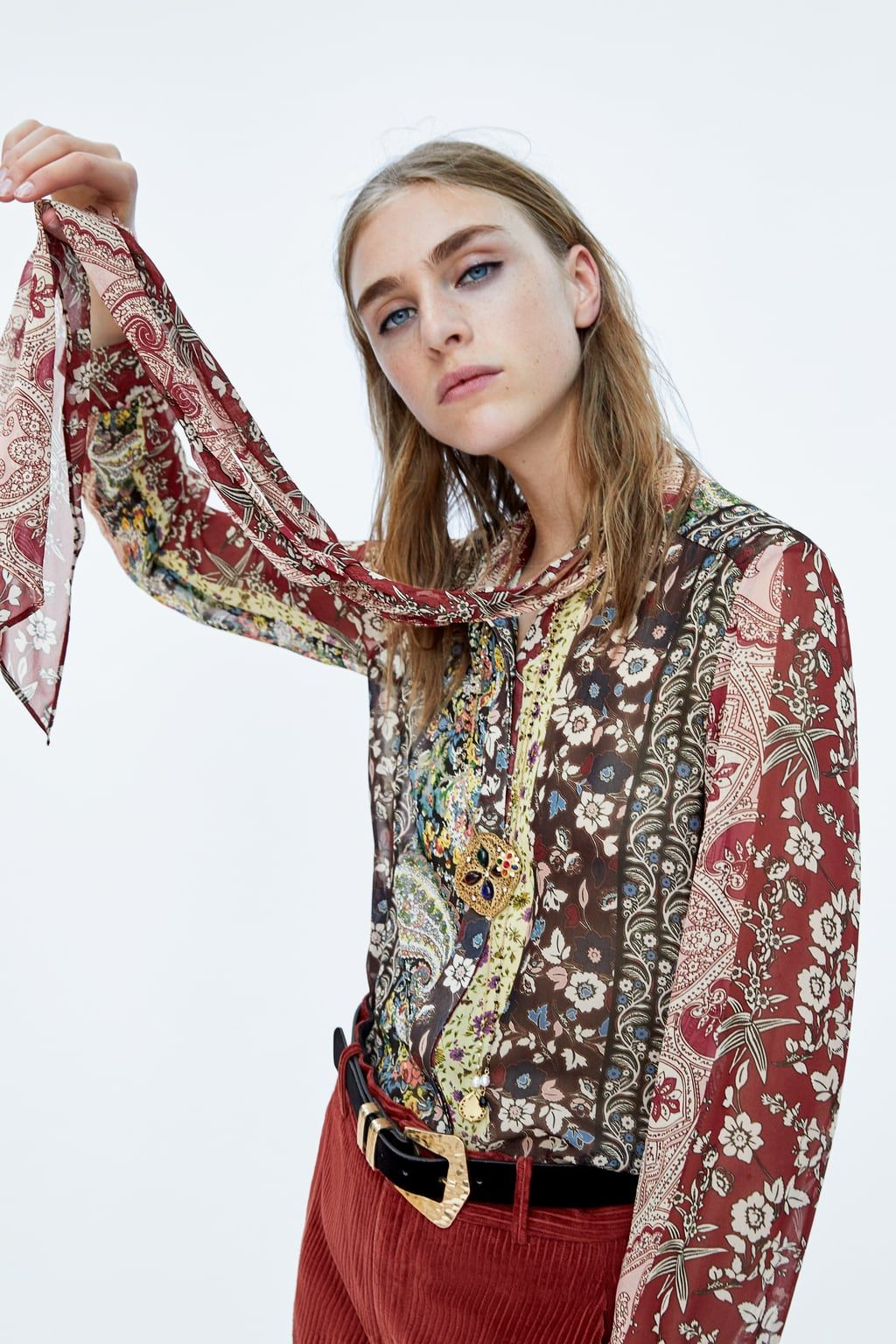 bd50dc1d0f7 Image 4 of PATCHWORK PRINTED SHIRT from Zara