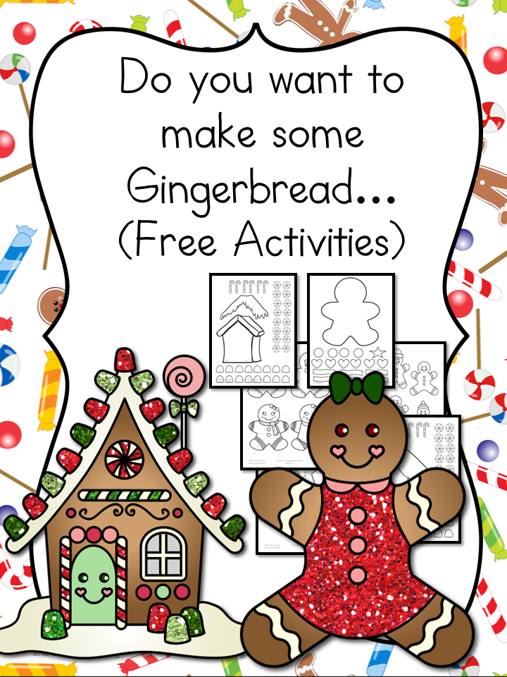 Gingerbread Man Cutout Template and Lesson Plan