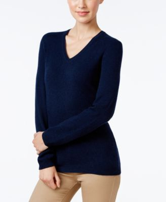 Charter Club Cashmere V-Neck Sweater, Only at Macy's, 18 Colors Available | macys.com