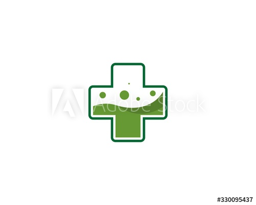 Lab Logo With Cross And Water Green Buy This Stock Vector And Explore Similar Vectors At Adobe Stock Adobe Stock In 2020 Lab Logo Logos Stock Vector