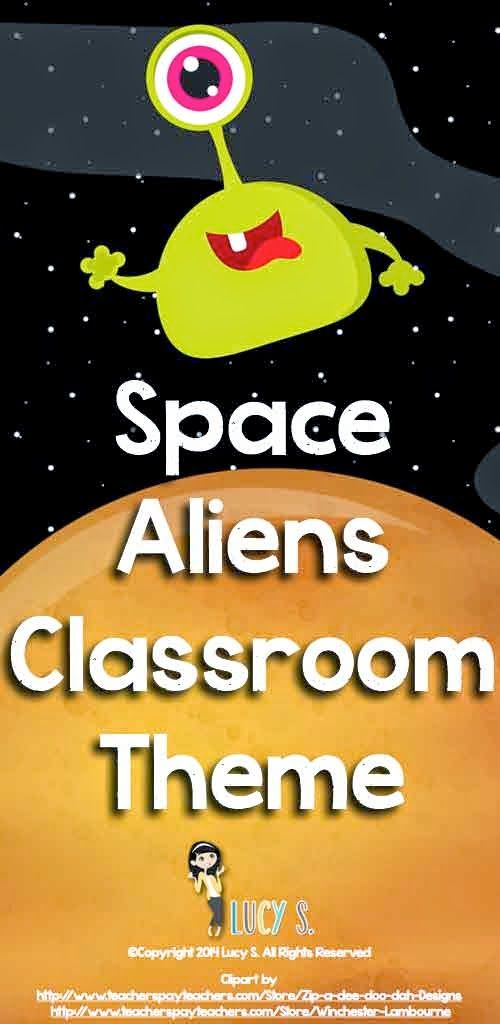 Classroom Decoration Space Theme ~ Space classroom decor theme cute monsters aliens