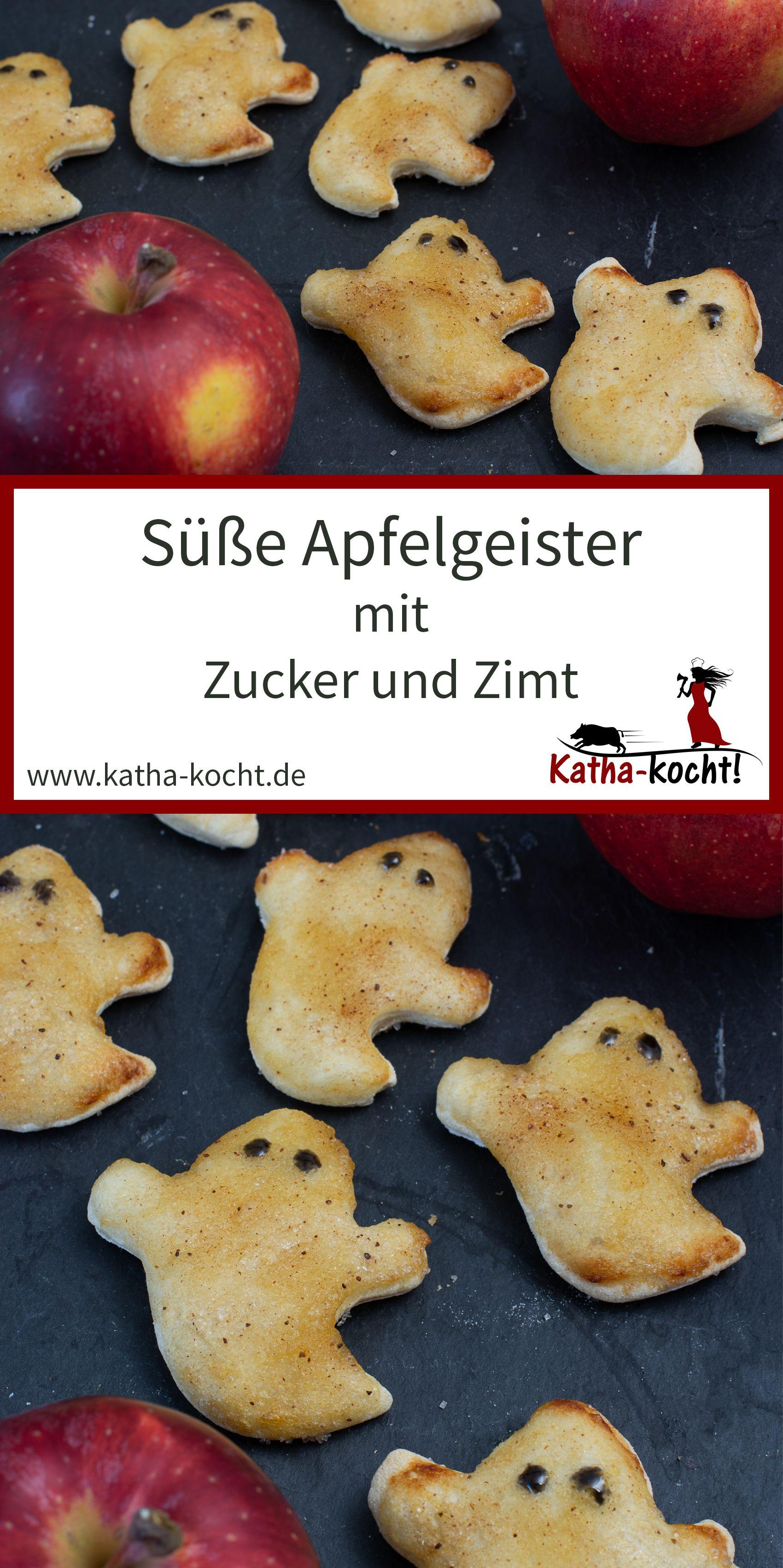 Süße Apfelgeister mit Zucker und Zimt Diese süßen Apfelgeister mit Zucker und Zimt sind mit einem einfachen Hefeteig ganz schnell gemacht Perfekt al...
